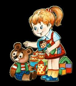 триз девочка с игрушками